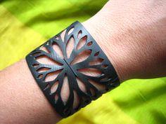 Bike inner tube bracelet