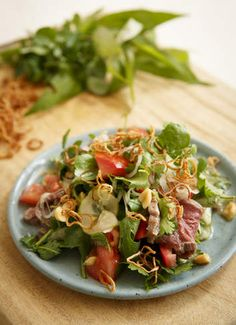 Warm or cold, salads are a fantastic light meal but can become something more substantial with the addition of protein. Thai beef salad is so easy – make the dressing, sear the beef and wash the salad and you are practically done. Wallaby or kangaroo also work well with the dressing. Here's Frank Camorra's recipe.