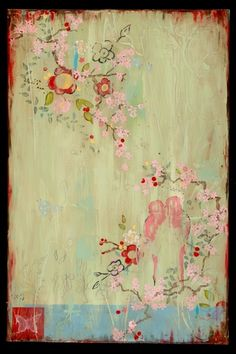 Painting by Kathe Fraga Decoupage, Japanese Prints, Japanese Art, Japanese Painting, Japanese Culture, Art Floral, Floral Design, French Wallpaper, Art Chinois