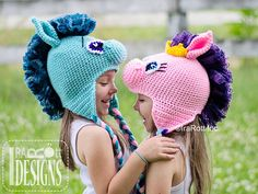 pony crochet hats |Horse Pony Animal Hat Crochet Pattern by IraRott