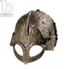 Gjermundbu Viking Helmet (metallic), Viking, (10th century) / Universitetets Oldsamksamling, University of Oslo, Norway / Photo © AISA / Bridgeman Images