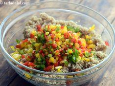 Quinoa, Corn and Capsicum Salad recipe Making Quinoa, How To Cook Quinoa, Lemon Herb, Healthy Grains, Quinoa Salad, Summer Salads, Food Photo, Healthy Choices, Salad Recipes