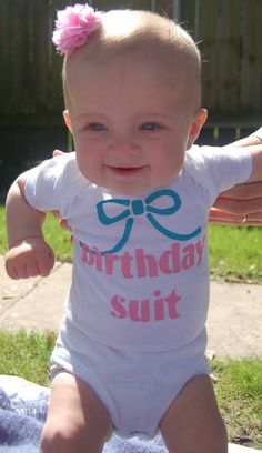 First Birthday Girl Outfit Baby Girl Birthday Onesie Funny Onesie via Etsy