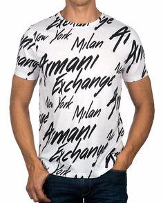 best service 2c486 c3e76 White Armani Exchange T-Shirt - City