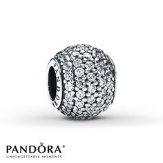 Jared - Pandora Charm Clear CZ Sterling Silver