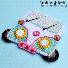 Crochet car / camper coaster crochet pattern DIY by VendulkaM