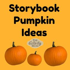 Storybook Pumpkin Ideas to Make and Create together Perfect for that school pumpkin contest Fall Crafts For Toddlers, Halloween Activities For Kids, Fun Halloween Crafts, Kids Learning Activities, Easy Crafts For Kids, Toddler Crafts, Diy For Kids, Halloween Ideas, Pumpkin Crafts