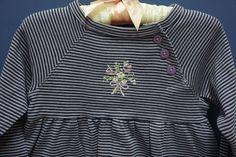 NEW Carter's dress - sz. 9 mo. purple stripe long sleeve #Carters