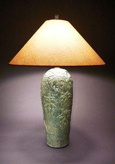 Tall Maple leaf Table Lamp