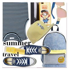 """""""summer travel"""" by paculi ❤ liked on Polyvore featuring A.L.C., Converse, Summer, travel and stripes"""