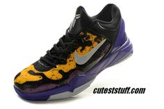 brand new 872ca 47b30 Nike Zoom Kobe 7 Shoes Poison Dart Frog Lakers Court Purple Wolf Grey Black  Tour Yellow