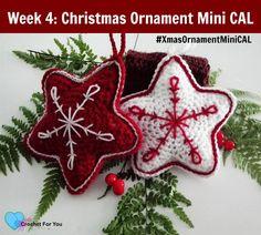 Christmas Ornament Mini CAL - Crochet Christmas Star, #haken, gratis patroon (Engels), Kerstmis, kerst ster, decoratie, #haakpatroon