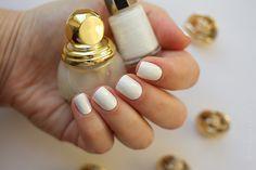 Dior Diorific #022 Mirror (2 coats) over Mavala — White