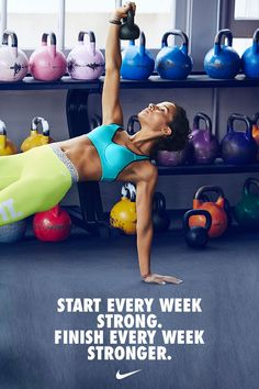 Start every week strong. Finish every week stronger. Use bold and bright colors to motivate your training.
