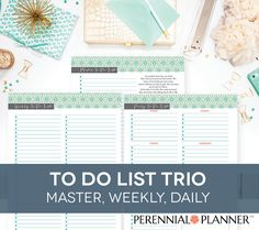 To Do List Printable for Planner - Master, Weekly, Daily Lists with Proverbs 31…