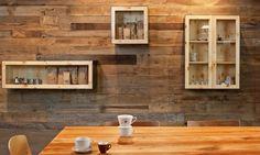 Wall pine wood