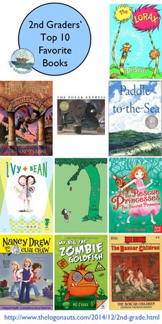 Top 10 Favorite Books of Second Graders | The Logonauts