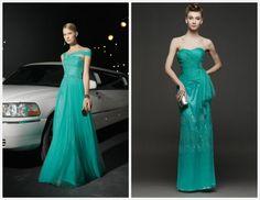 Vestidos verdes para Mães e Madrinhas - Coleção 2014 de Rosa Clará | Clássico Noivas