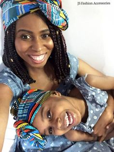 blue and yellow Ankara headwrap Scarf Head, Head Scarfs, African Head Wraps, Teyana Taylor, Mom Daughter, Victoria Dress, Christian Clothing, African Hairstyles, Red Carpet Dresses