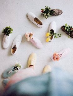 I have flowers in my shoes