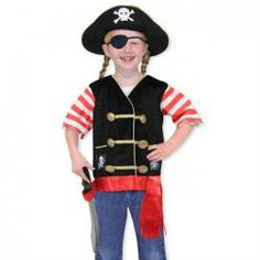 Melissa and Doug Personalized Pirate Role Play Costume Set - Ay matey! This swashbuckling Melissa and Doug Personalized Pirate Role Play Costume Set is sure to have your little pirate going off on adventures to. Costume Halloween, Costume Garçon, Dress Up Costumes, Boy Costumes, Halloween Kids, Pirate Costume Fille, Pirate Costume Kids, Pirate Hats, Pirate Dress Up