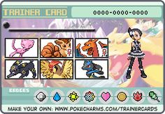 My own trainercard. (click through to make your own)