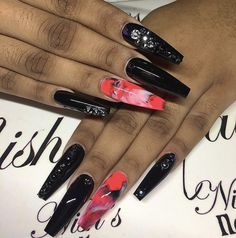 Hair And Nails, My Nails, Stiletto Shaped Nails, Different Types Of Nails, Finger Nail Art, Nail Candy, Fire Nails, Coffin Nails Long, Manicure And Pedicure