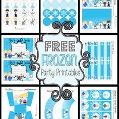 Imprimibles gratis con el tema de FROZEN! (los textos están en inglés)//Frozen Themed Party Printable Set FREE ~ Homeketeers ~ #Free #Printables #Frozen #Party