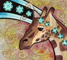 The giraffe symbolizes looking ahead, being able to see great distances, knowing what's coming up in the future, having a predisposition for all forms of divination, premonitions, seeing ahead.