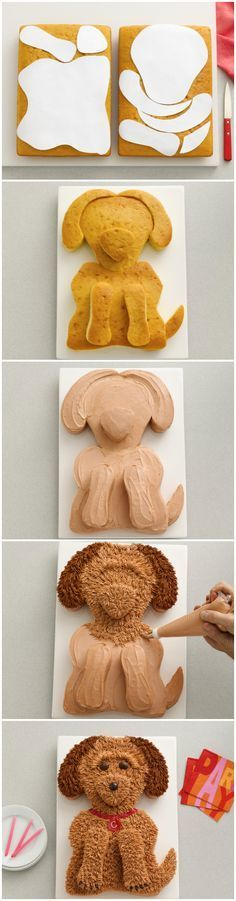 """Puppy cake. This would be cute for a boy baby shower...""""snakes, snails, & puppy dog tails"""" ;)"""