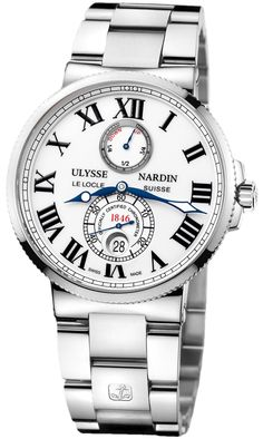 Ulysse Nardin Maxi Marine Chronometer White Dial Stainless Steel Automatic Men's Watch 263-67-7-40 - Ulysse Nardin - Shop Watches by Brand - Jomashop