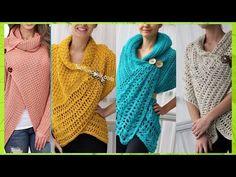 Crochet Circle Vest, Crochet Circles, Crochet Poncho, Knitting Patterns, Crochet Patterns, Clothes, Knit Shawls, How To Knit, Crochet Poncho Patterns