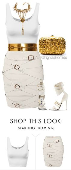 """Golddddd"" by highfashionfiles ❤ liked on Polyvore featuring Marina Hoermanseder, Gucci, Tom Ford and Christian Dior"