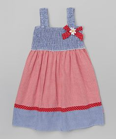 Look what I found on #zulily! Red & Blue Gingham Sundress - Infant, Toddler & Girls #zulilyfinds