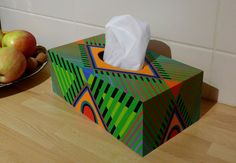 Polymer clay covered tissue box