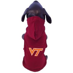 NCAA Virginia Tech Hokies Cotton Lycra Hooded Dog Shirt, X-Small ** You can get additional details at the image link.