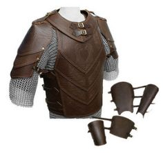 "Deluxe Leather Armour Set (Heavy Leather) ""Horse Lord"" --- LRP Store - LARP Costume, Weapons, Accessories and Kit with worldwide delivery Larp Armor, Cosplay Armor, Medieval Armor, Chainmail Armor, Medieval Gown, Armadura Medieval, Armor Clothing, Medieval Clothing, Gypsy Clothing"