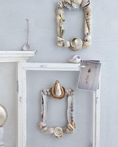 Seashell Picture Frame DIY - perfect for your photos from the beach! Sweet Paul