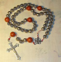 60.00 Grey Roses, Medieval Fashion, Red Coral, Great Gifts, Beaded Bracelets, Rosaries, Trending Outfits, Unique Jewelry, Handmade Gifts