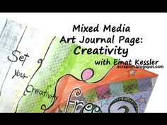 Mixed Media Art Journal Page: Creativity