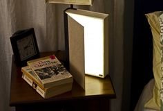 DIY recycled book lamp
