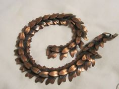 Vintage Copper Signed Rebajes Copper Necklace by edanebeadwork