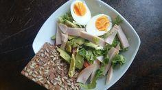 Healthy advocado salade