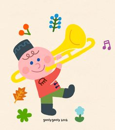 goolygooly illust Music Illustration, Photo Illustration, Child Day, Happy Day, Art School, Good Music, Watercolor Art, Illustrators, Children
