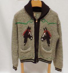 Miller Western Wear Cowichan Wool Sweater Horse Zip Unisex XXL | Etsy Cowichan Sweater, Sweater Making, Western Wear, Wool Sweaters, Unique Vintage, Knits, Westerns, Horse, Unisex