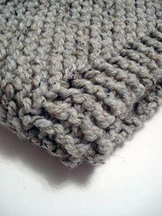 Hand knit blanket by dhbuscher, via Flickr