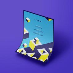 Poster concept for Bath University Students Union.    #graphicdesign #poster #photoshop #bar #students #design #art #designer #geometric #blue #yellow #vector #illustrator #graphicgang #designwork #branding