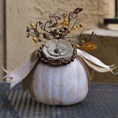Altered pumpkin.  Details on my blog soon.
