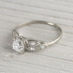 .78 Carat Vintage Art Deco Diamond Engagement Ring Yes Please