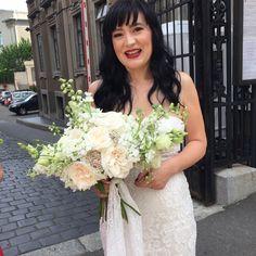 White bouquet  #bride #bouquet #white #Ohara #garden-roses